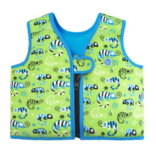 Go Splash Swim Vest Green Gecko