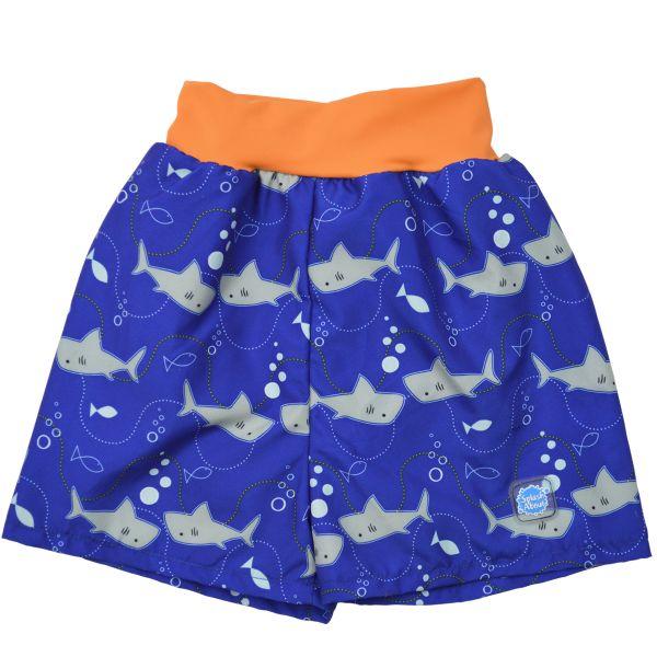 Happy Nappy Board Shorts Shark Orange