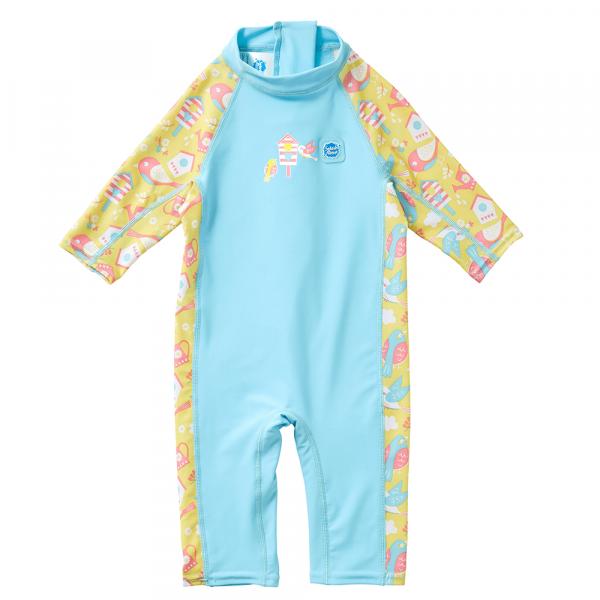 Toddler 3/4 length UV Suit Garden Birds