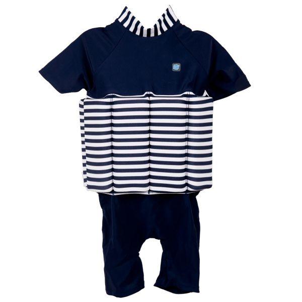 UV Floatsuit Navy White Stripe