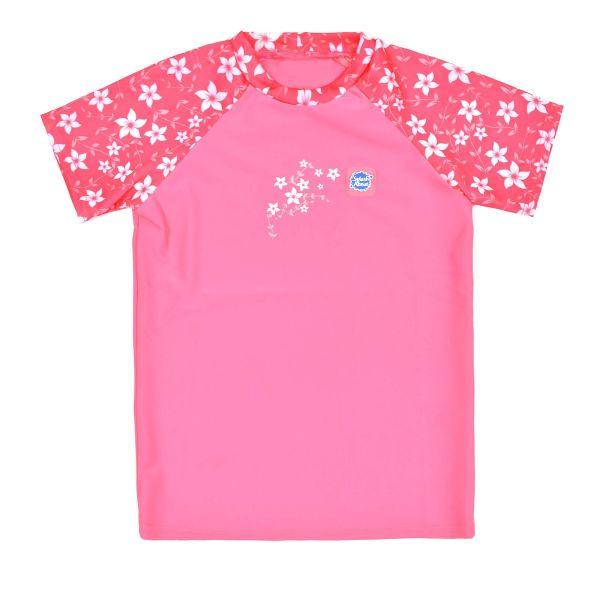Short Sleeve Rash Top Pink Blossom