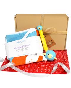 Noah's Ark Hooded Towel, Pufferfish Dive Sticks & Pufferfish Toy Gift Bundle