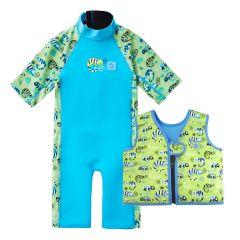 Green Gecko UV Combie and Go Splash Swim Vest Bundle