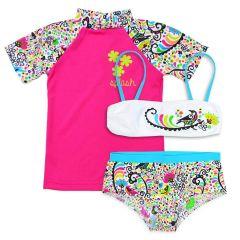 De Birdy Bikini and Short Sleeve Rash Top Bundle