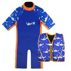 Shark Orange UV Combie and Go Splash Float Jacket Bundle