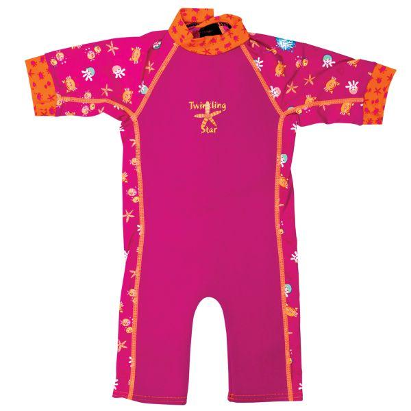 UV Combie Wetsuit Pink Bobbing Along