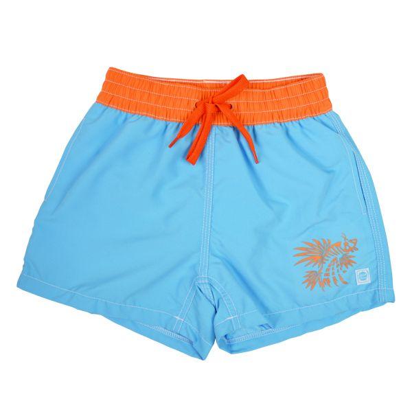 Board Shorts Motif Blue Lion Fish