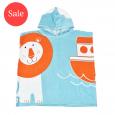 Kids Hooded Poncho Towel Noah's Ark