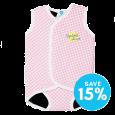 Baby Wrap™ Pink Gingham Large Yellow Logo