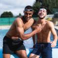 Mens Swim Shorts Plain Black