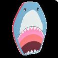 Soaked Shark Kick Board
