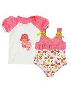 Kayla La Rash Top & Ruffle Swimsuit