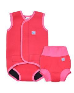 Pink Geranium Happy Nappy and Baby Wrap Bundle