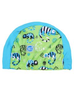 Swim Hat Green Gecko
