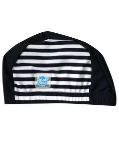 Swim Hat Navy with White Stripe