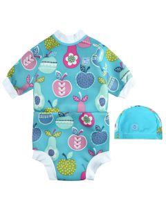 Happy Nappy Wetsuit and Swim Hat Tutti Frutti Bundle