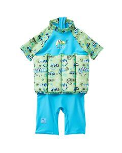 UV Floatsuit with Zip Green Gecko