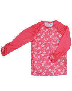Rash Top Long Pink Blossom