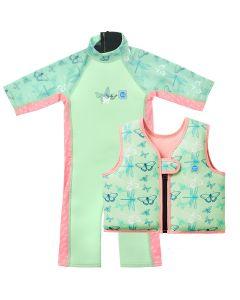 Dragonfly UV Combie and Go Splash Swim Vest Bundle